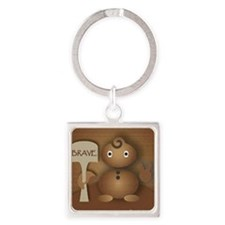 Brave Character Of Mine Square Keychain