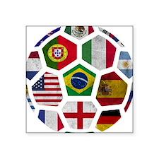"Cute Football Square Sticker 3"" x 3"""