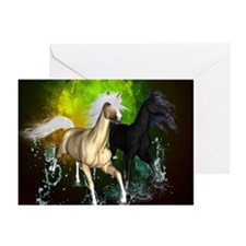 Wild horses Greeting Cards