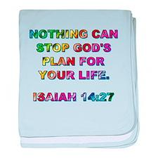 ISAIAH 14:27 baby blanket