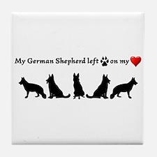 German Shepherd Left Footprints On My Tile Coaster