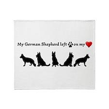 German Shepherd Left Footprints On Throw Blanket