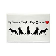German Shepherd Left Footprints On My Magnets