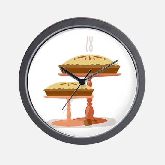 Two Pies Wall Clock