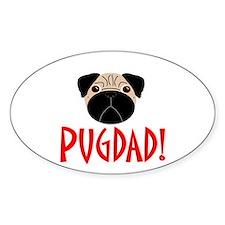 Fawn Pugdad Oval Decal