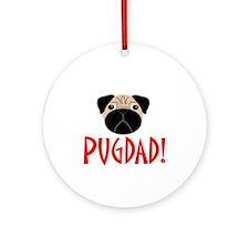 Fawn Pugdad Ornament (Round)