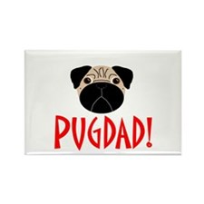 Fawn Pugdad Rectangle Magnet