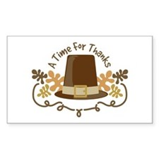 A Time For Thanks Decal