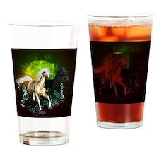 Wild horses Drinking Glass