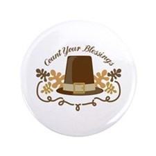 "Count Your Blessings 3.5"" Button (100 pack)"