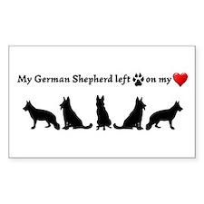 German Shepherd Left Footprints On My Decal