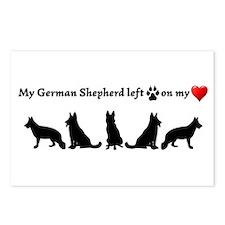 German Shepherd Left Postcards (package Of 8)