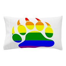 Gay Bear Pride Rainbow Flag Bear Paw Pillow Case