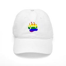 Gay Bear Pride Rainbow Flag Bear Paw Baseball Baseball Cap