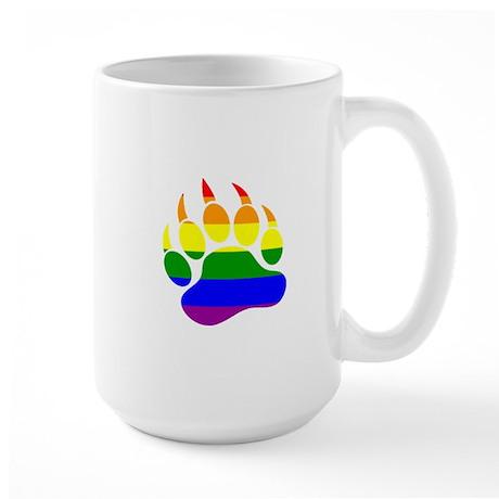 Gay Bear Pride Rainbow Flag Bear Paw Mugs