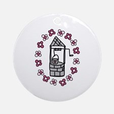 Wishing Water Well Ornament (Round)
