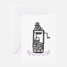 Wishing Water Well Greeting Cards