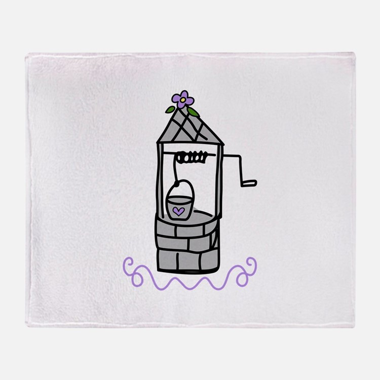 Wishing Water Well Throw Blanket
