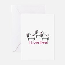I love ewe! Greeting Cards