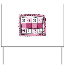 Baby Girl Yard Sign