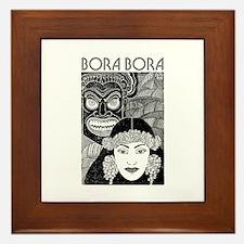 Vintage BORA BORA Framed Tile