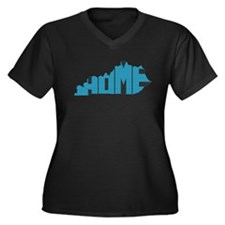 Kentucky Home Women's Plus Size V-Neck Dark T-Shir