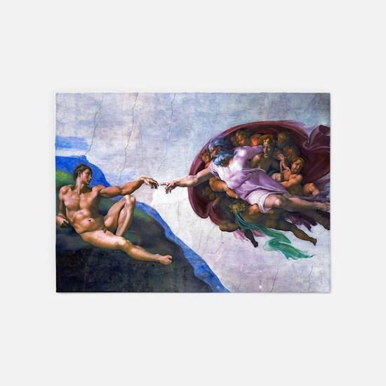 Michelangelo: Creation of Adam 5'x7'Area Rug