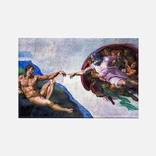 Michelangelo: Creation of Adam Rectangle Magnet