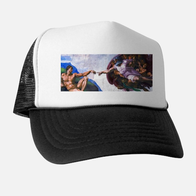 Michelangelo: Creation of Adam Trucker Hat