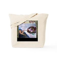 Michelangelo: Creation of Adam Tote Bag