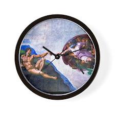 Michelangelo: Creation of Adam Wall Clock