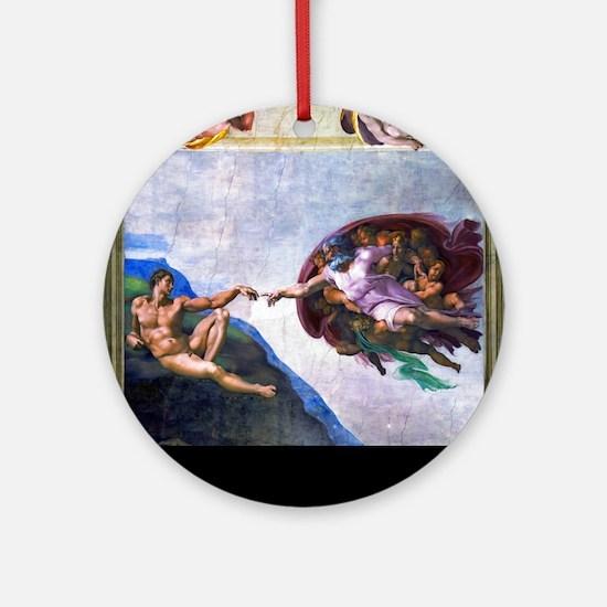 Michelangelo: Creation of Adam Ornament (Round)