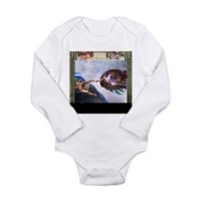 Michelangelo: Creation Long Sleeve Infant Bodysuit
