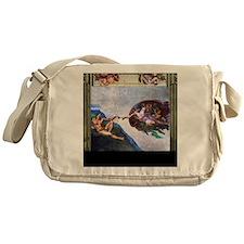 Michelangelo: Creation of Adam Messenger Bag
