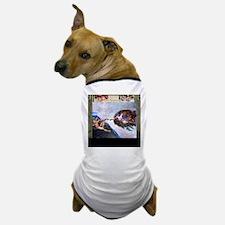 Michelangelo: Creation of Adam Dog T-Shirt