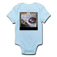Michelangelo: Creation of Adam Infant Bodysuit