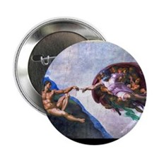 "Michelangelo: Creation of A 2.25"" Button (10 pack)"