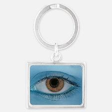 Brown Eye on Blue Keychains