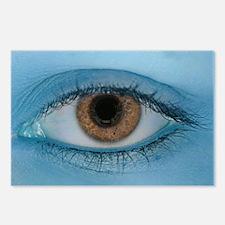 Brown Eye on Blue Postcards (Package of 8)