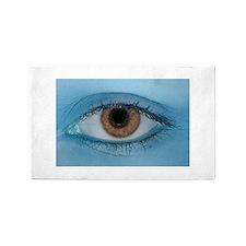 Brown Eye on Blue 3'x5' Area Rug