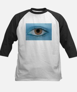 Brown Eye on Blue Baseball Jersey