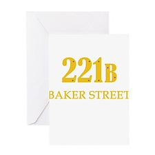 221 B Baker Street Greeting Cards