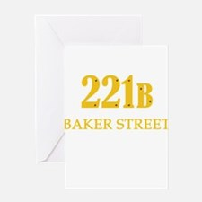 221 B Baker Street Greeting Cards