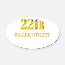 221 B Baker Street Oval Car Magnet