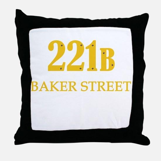 221 B Baker Street Throw Pillow
