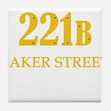 221 B Baker Street Tile Coaster
