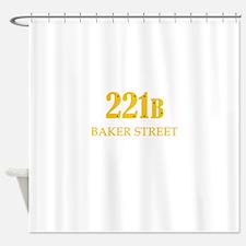 221 B Baker Street Shower Curtain