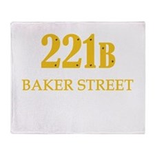 221 B Baker Street Throw Blanket