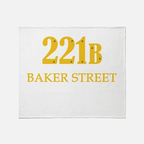 221 B Baker Street Throw Blanket
