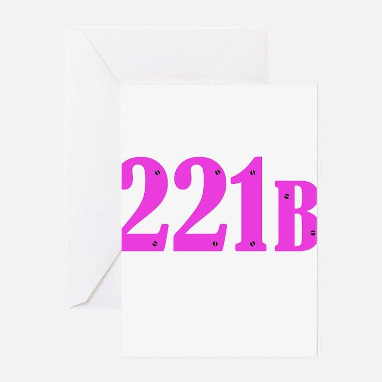 221 B Pink Greeting Cards